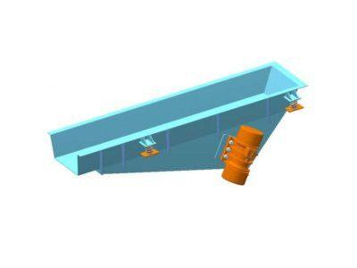 Вібраційний лотковий плоский живильник з інертним приводом типу PWkpb