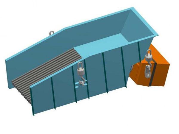 Podajnik wibracyjny rusztowy z napędem elektromagnetycznym typ PWRu