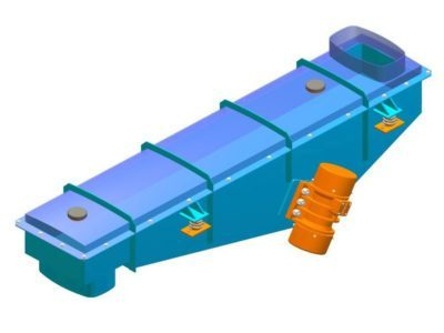 Enclosed shake vibrating feeder with inertial drive type PWkzb