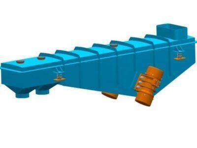 Вібраційний відсівний живильник з інертним приводом типу PWO