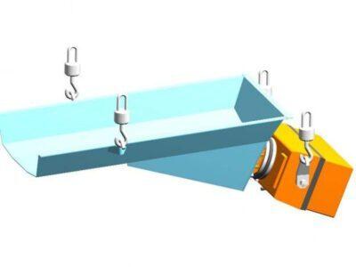 Плоский вібраційний живильник з електромагнітним приводом тип PWP