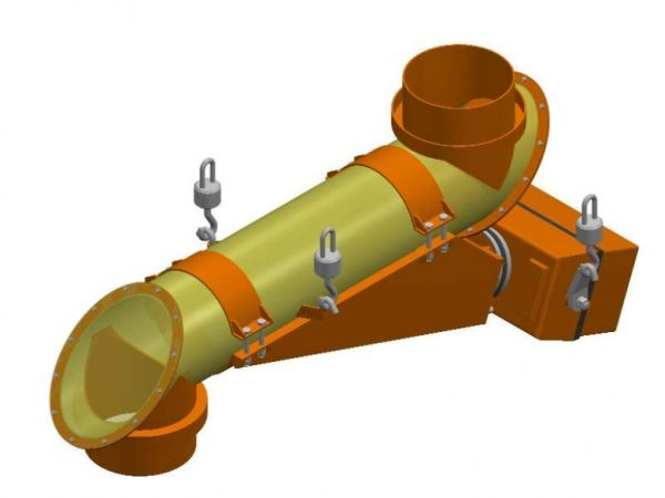 Tube vibrating feeder with electro-magnetic drive type PWR