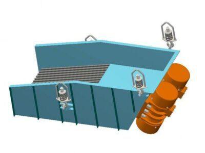 Вібраційний гратчастий живильник з інертним приводом типу PWRub