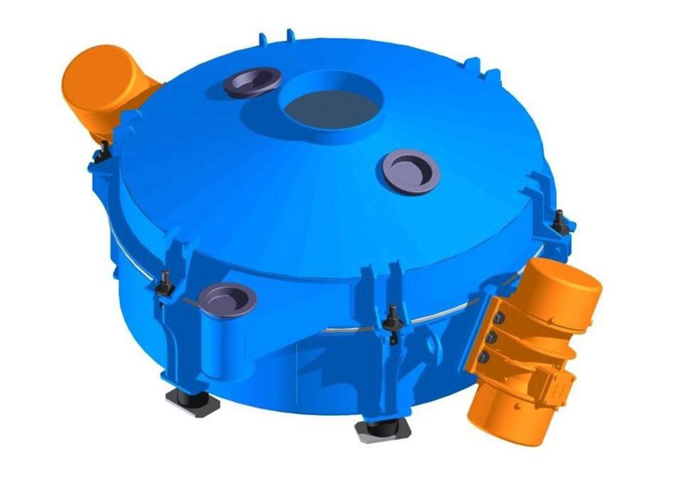 Cylindrical vibrating screen type PWCb