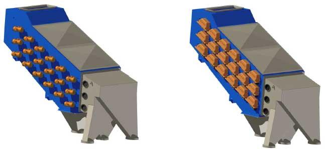 Membrane vibrating screen type PWMb or PWM