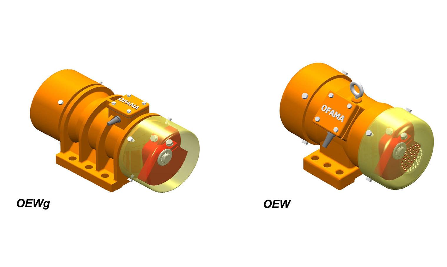 Elektrovibratoren (Trägheitstyp) Typ OEWg – OEW – MVE