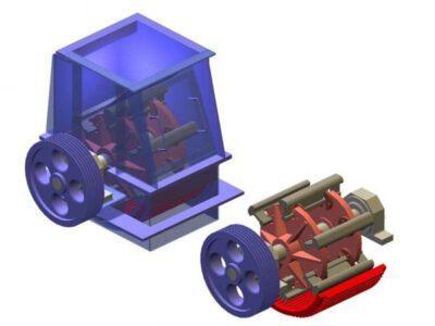 Hammer crusher type OKM-6