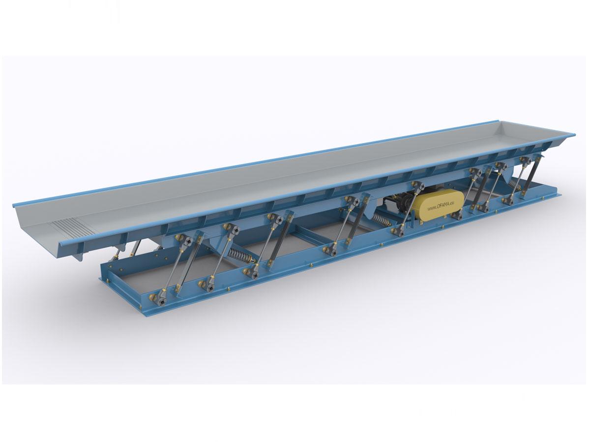 Inertial vibrating conveyor type Pb