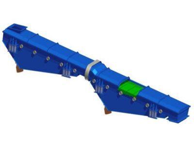 Schładzarka wibracyjna kaskadowa z napędem bezwładnościowym typ SWKb