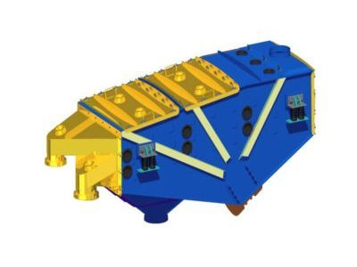 Inertial linear vibrating screen type 2PWb