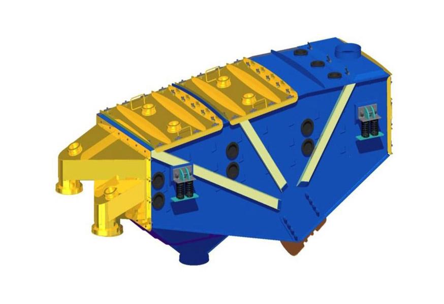 Inertial linear vibrating screen type 2PWb